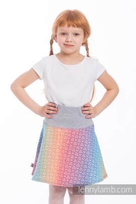 LennySkirt - Größe 110 - Big Love - Rainbow mit Grau