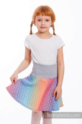 LennySkirt - Größe 116 - Big Love - Rainbow mit Grau