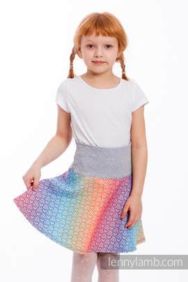 LennySkirt - size 140 - Big Love - Rainbow & Grey