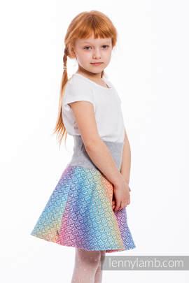 LennySkirt - Größe 122 - Big Love - Rainbow mit Grau
