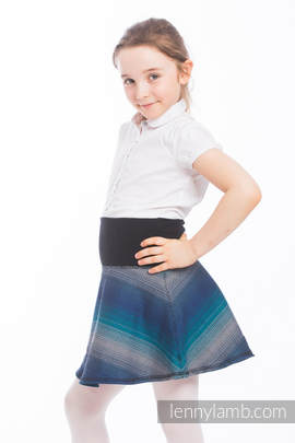 LennySkirt - size 140 - Little Herringbone Illusion