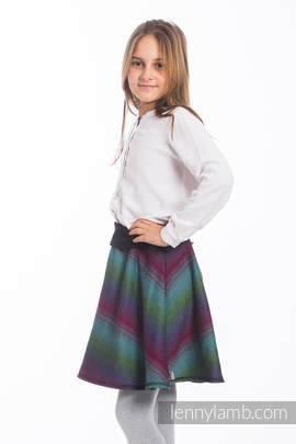 LennySkirt - size 140 - Little Herringbone Impression Dark