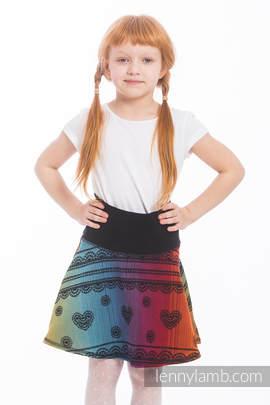 LennySkirt - size 122 - Rainbow Lace Dark