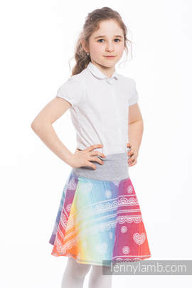 LennySkirt - size 146 - Rainbow Lace & Grey