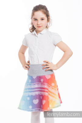 LennySkirt - size 140 - Rainbow Lace & Grey