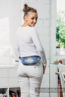 Waist Bag made of woven fabric,(100% cotton) - FISH'KA BIG BLUE