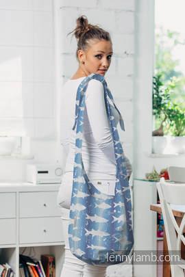 Hobo Bag made of woven fabric,100% cotton - FISH'KA BIG BLUE