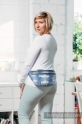 Waist Bag made of woven fabric, size large (100% cotton) - FISH'KA BIG BLUE