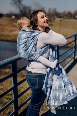 Baby Wrap, Jacquard Weave (100% cotton) - FISH'KA BIG BLUE - size M