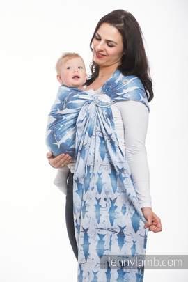 Ringsling, Jacquard Weave (100% cotton) - FISH'KA BIG BLUE