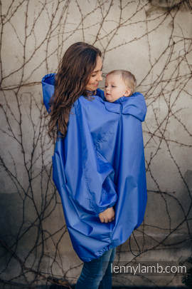 Babywearing Raincoat - size 2XL/3XL - Blue