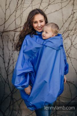 Babywearing Raincoat - size L/XL - Blue