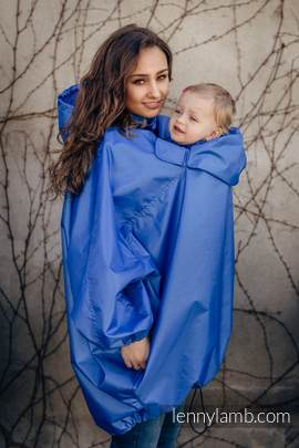 Babywearing Raincoat - size S/M - Blue