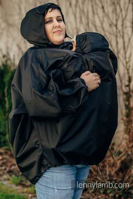 Babywearing Raincoat - size 2XL/3XL - Black (grade B)