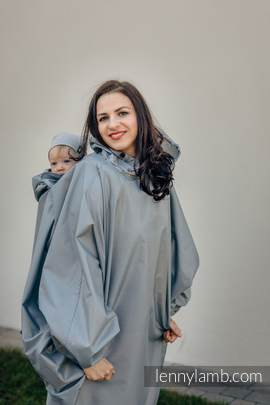 Babywearing Raincoat - size S/M - Grey