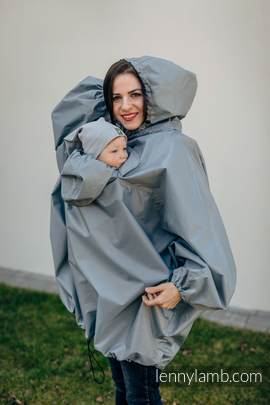 Babywearing Raincoat - size L/XL - Grey