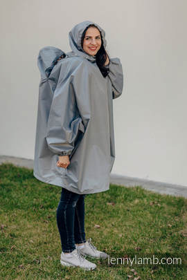 Babywearing Raincoat - size 2XL/3XL - Grey