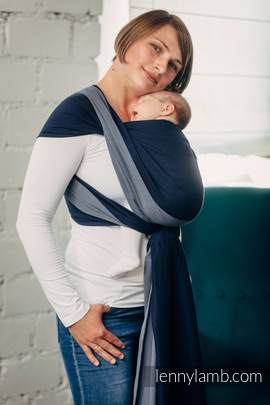 Basic Line Baby Sling - AZURITE, Broken Twill Weave, 100% cotton, size L (grade B)