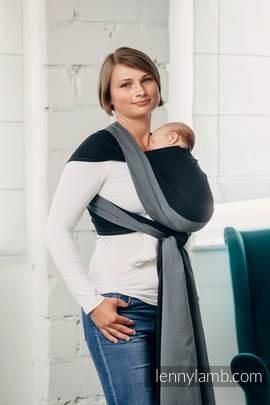 Moja pierwsza chusta do noszenia dzieci - OBSYDIAN, tkana splotem skośno-krzyżowym (100% bawełna) - rozmiar M (drugi gatunek)