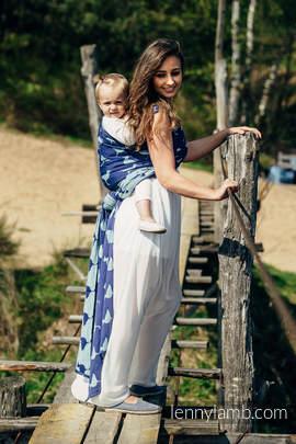 Baby Wrap, Jacquard Weave (65% cotton, 35% silk) - LARINA - size XS