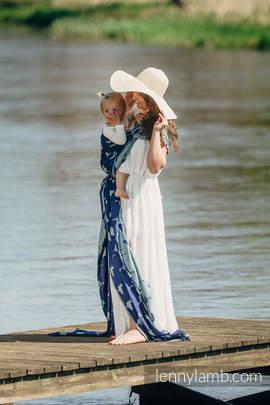 Żakardowa chusta do noszenia dzieci, 65% Bawełna 35% Jedwab - LARINA - rozmiar L