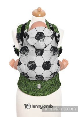Ergonomic Carrier, Toddler Size, jacquard weave 100% cotton - wrap conversion from FAIR PLAY ON THE PITCH - Second Generation