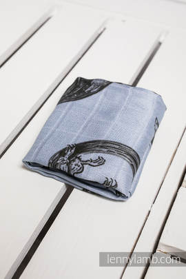 Muslin Square - DRAGON BLACK & GREY