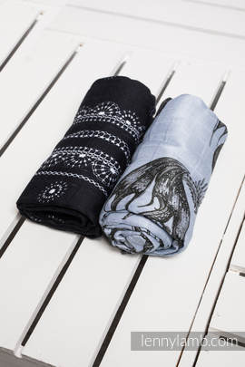 Swaddle Wrap Set - DRAGON BLACK & GREY, GLAMOROUS LACE