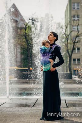 Nosidełko Ergonomiczne z tkaniny żakardowej 65% bawełna 35% len, Toddler Size, SYMFONIA CZYSTA RADOŚĆ, Druga Generacja