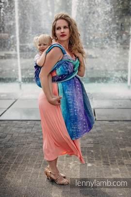 Żakardowa chusta do noszenia dzieci, 65% bawełna, 35% len - SYMFONIA CZYSTA RADOŚĆ - rozmiar S