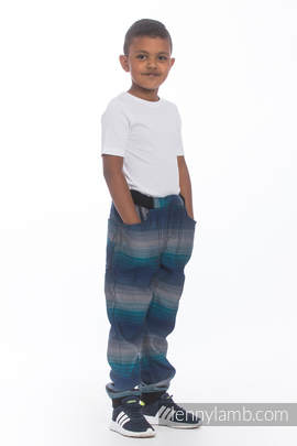LennyJogger - size 116 - Little Herringbone Illusion