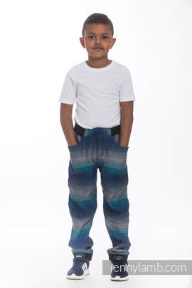 LennyJogger - size 110 - Little Herringbone Illusion