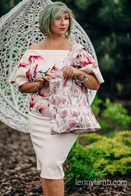 Shoulder bag made of wrap fabric (100% cotton) - MAGNOLIA - standard size 37cmx37cm