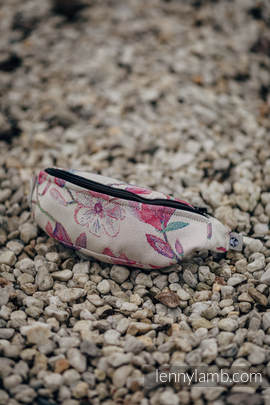 Waist Bag made of woven fabric, (100% cotton) - MAGNOLIA