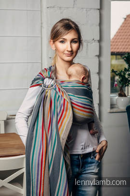 Ring Sling - 100% Cotton - Broken Twill Weave, with gathered shoulder - OASIS (grade B)