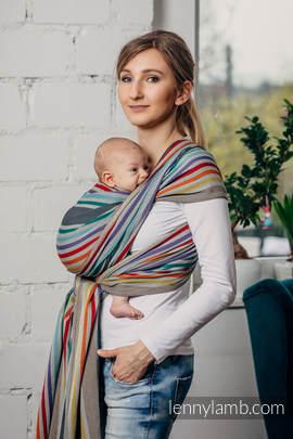 Chusta do noszenia dzieci, tkana splotem skośno-krzyżowym (100% bawełna) - OAZA - rozmiar M
