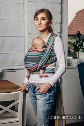 Chusta do noszenia dzieci, tkana splotem skośno-krzyżowym (100% bawełna) - OAZA - rozmiar S