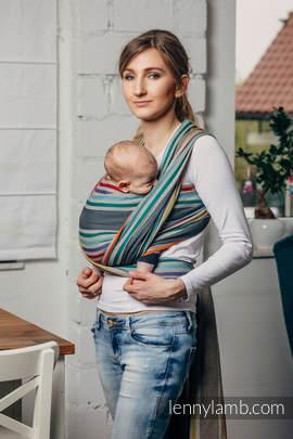 Chusta do noszenia dzieci, tkana splotem skośno-krzyżowym (100% bawełna) - OAZA - rozmiar L