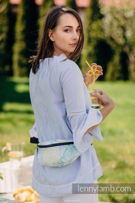 Waist Bag made of woven fabric, (100% cotton) - FRESH LEMON