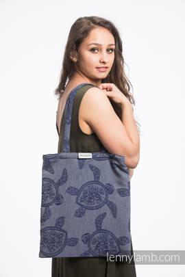 Shopping bag made of wrap fabric (100% cotton) - SEA ADVENTURE - CALM BAY