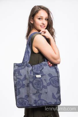 Shoulder bag made of wrap fabric (100% cotton) - SEA ADVENTURE - CALM BAY - standard size 37cmx37cm