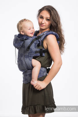Ergonomic Carrier, Toddler Size, jacquard weave 100% cotton - wrap conversion from SEA ADVENTURE - CALM BAY - Second Generation