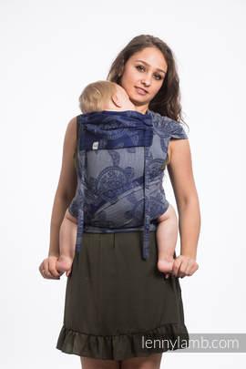 Nosidełko dla dzieci WRAP-TAI TODDLER, bawełna, splot żakardowy, z kapturkiem, PRZYGODA MORSKA - CICHA ZATOKA