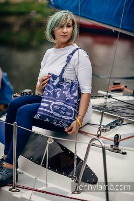 Shopping bag made of wrap fabric (100% cotton) - SEA STORIES