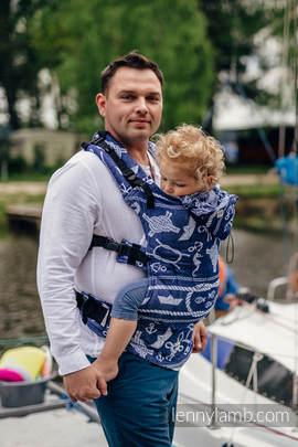 Nosidełko Ergonomiczne z tkaniny żakardowej 100% bawełna , Toddler Size, MORSKIE OPOWIEŚCI - Druga Generacja