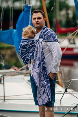 Ringsling, Jacquard Weave (100% cotton) - SEA STORIES