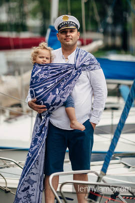 Baby Wrap, Jacquard Weave (100% cotton) - SEA STORIES - size XS