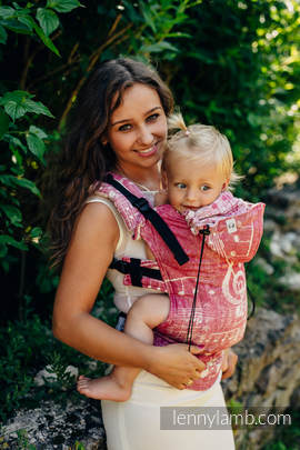 Ergonomic Carrier, Baby Size, jacquard weave - 62% cotton, 38% silk - wrap conversion from SYMPHONY SWEETNESS, Second Generation