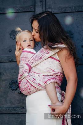 Baby Wrap, Jacquard Weave - 62% cotton, 38% silk - SYMPHONY SWEETNESS - size XL