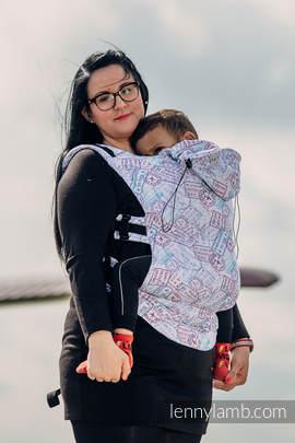 Nosidełko Ergonomiczne z tkaniny żakardowej 100% bawełna , Baby Size, DOOKOŁA ŚWIATA - Druga Generacja